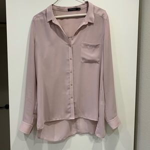 TROUVE slightly sheer blouse